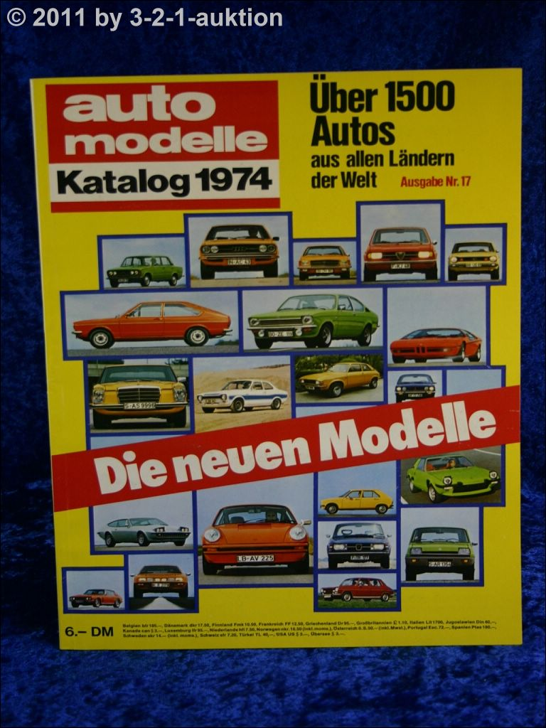 auto modelle katalog autokatalog ams 1974 nr 17 ebay. Black Bedroom Furniture Sets. Home Design Ideas