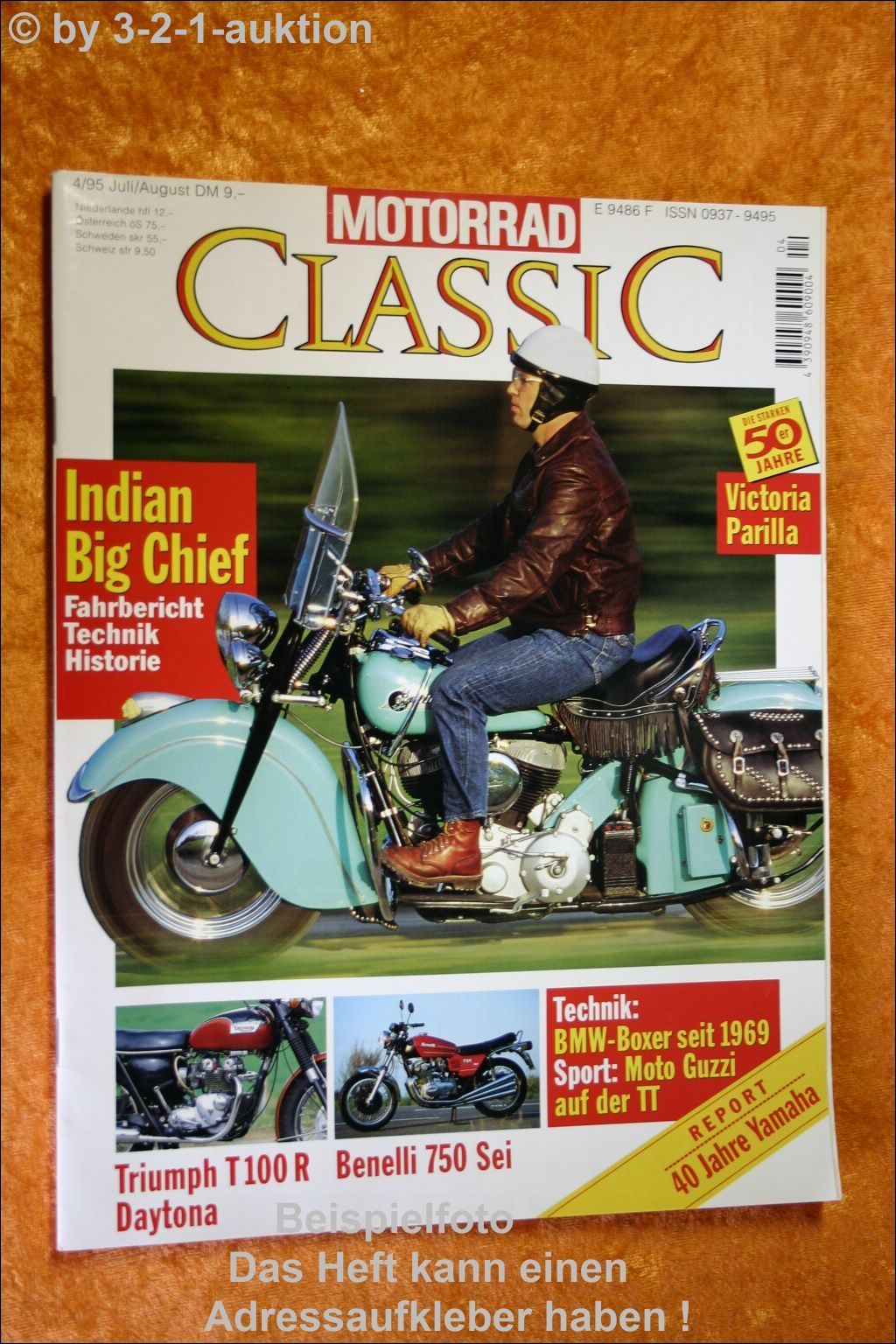 Motorrad Classic 4/95 Indian Big Chief Triumph Daytona