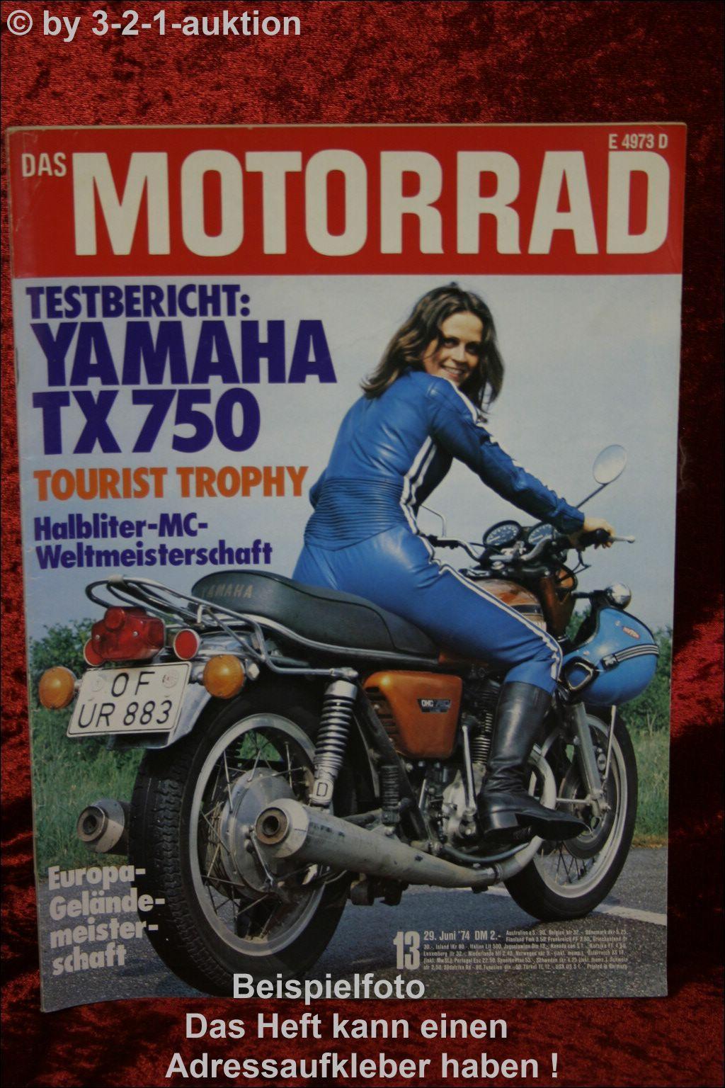 Das motorrad 13 74 yamaha tx 750 husqvarna suzuki ebay for Yamaha suzuki of texas