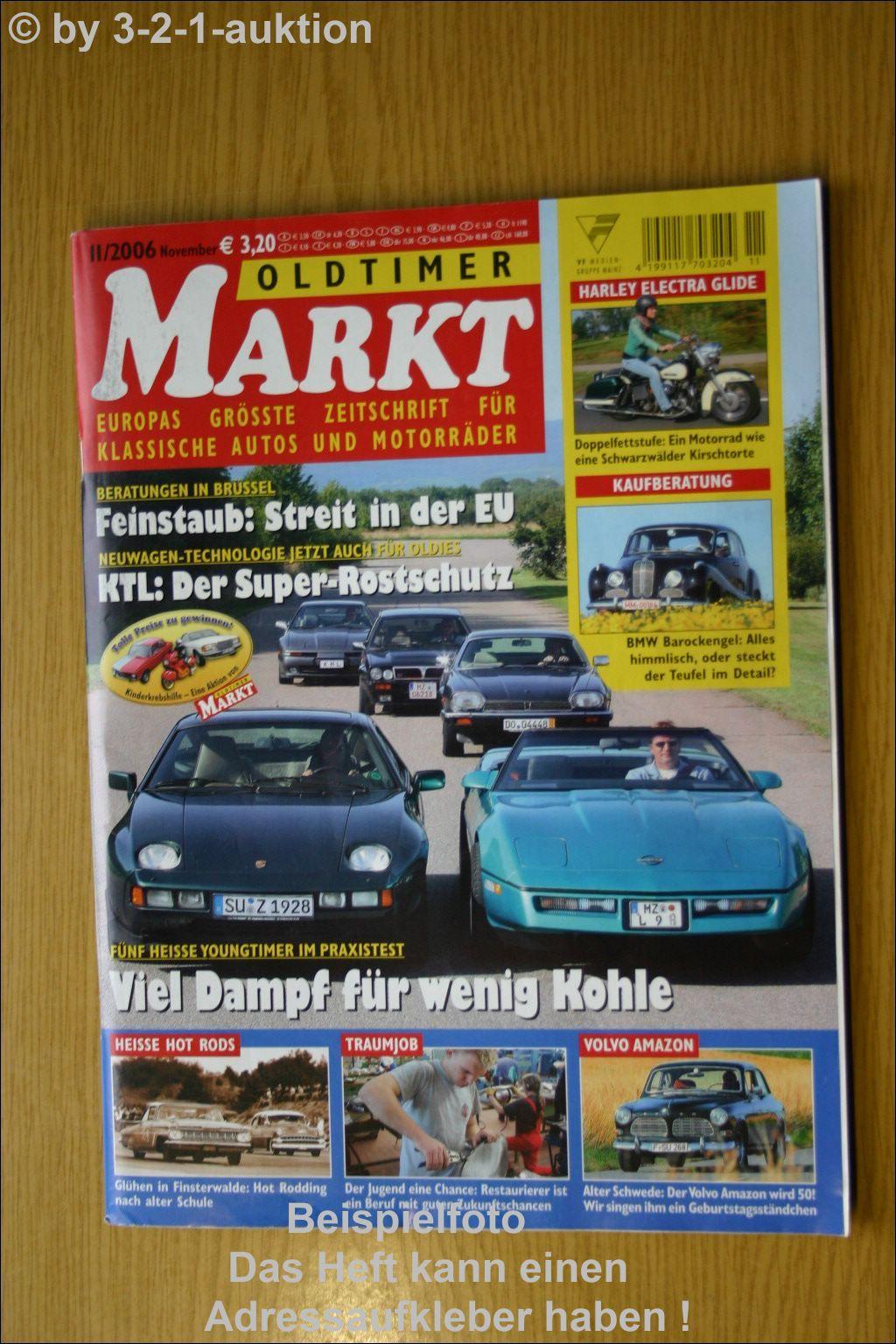 oldtimer markt 11 06 volvo amazon corvette porsche 928 ebay. Black Bedroom Furniture Sets. Home Design Ideas