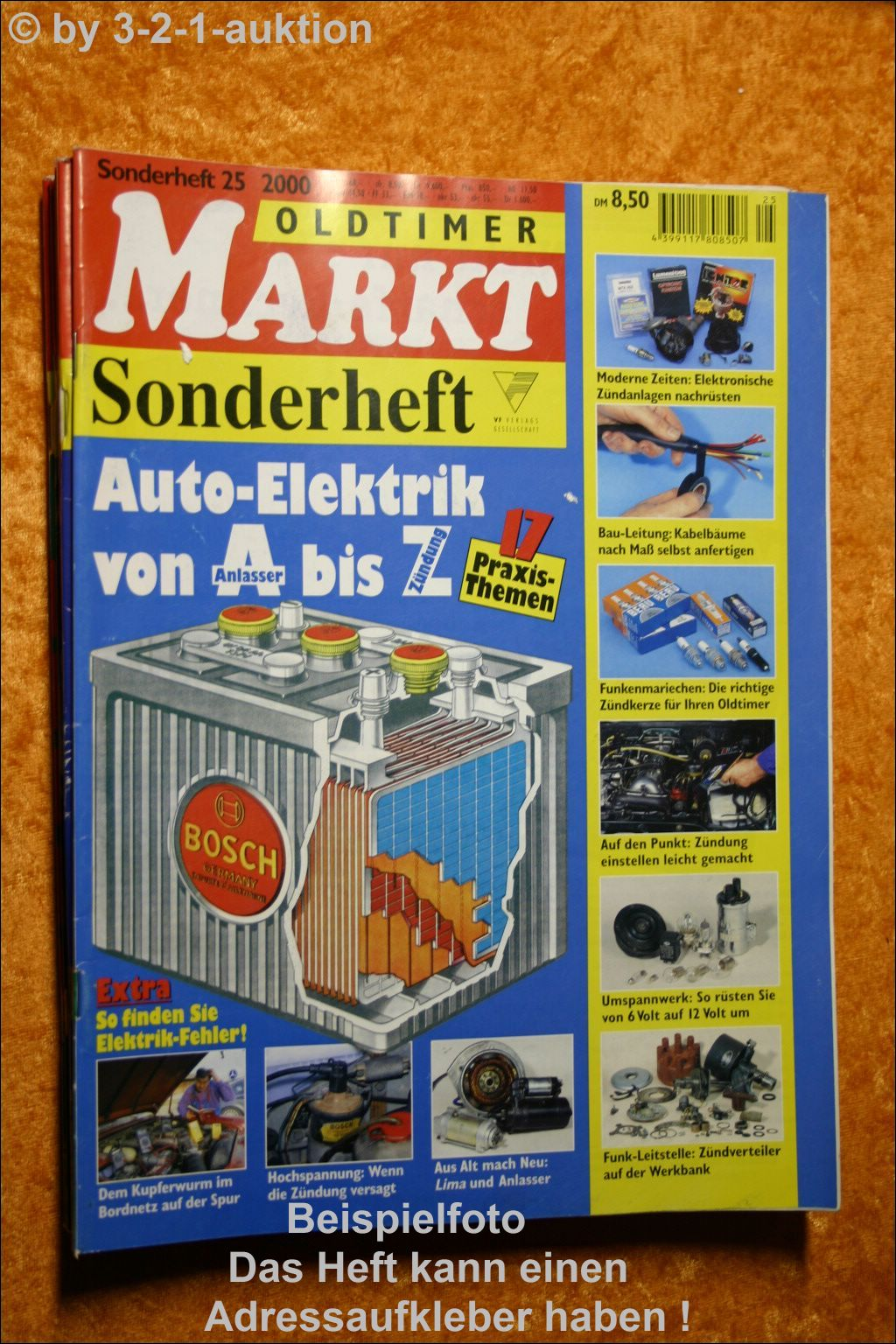 oldtimer markt sonderheft nr 25 2000 auto elektrik a z ebay. Black Bedroom Furniture Sets. Home Design Ideas
