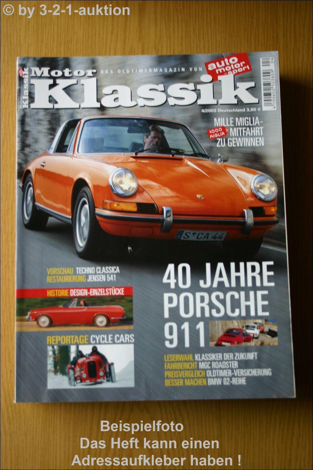 Motor Klassik 4 03 Porsche 911 Jensen 541 Bmw Mg C Ebay