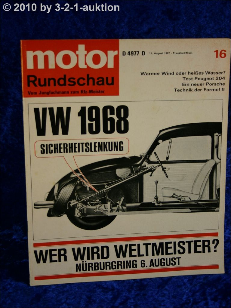 Motor-Rundschau-16-67-VW-1968-Porsche-Sportomatic-Tatra