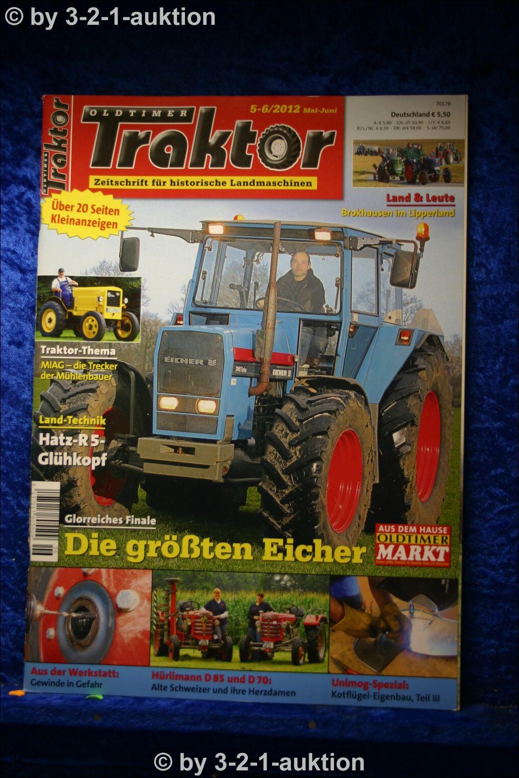 oldtimer traktor 5 6 12 eicher wotan h rlimann d70 d85. Black Bedroom Furniture Sets. Home Design Ideas