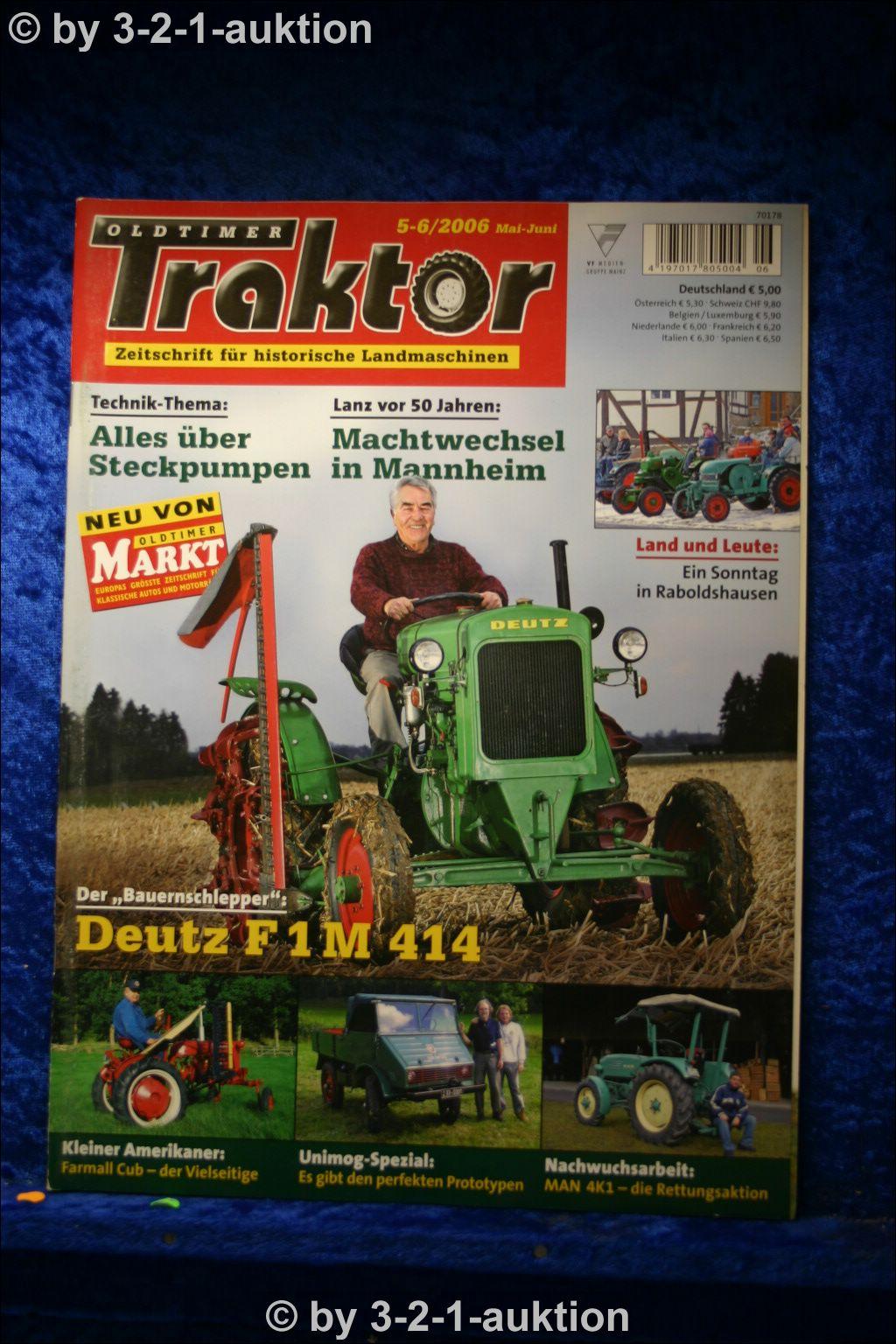 oldtimer traktor 5 6 06 deutz f1 m 414 man 4 k 1 mc. Black Bedroom Furniture Sets. Home Design Ideas