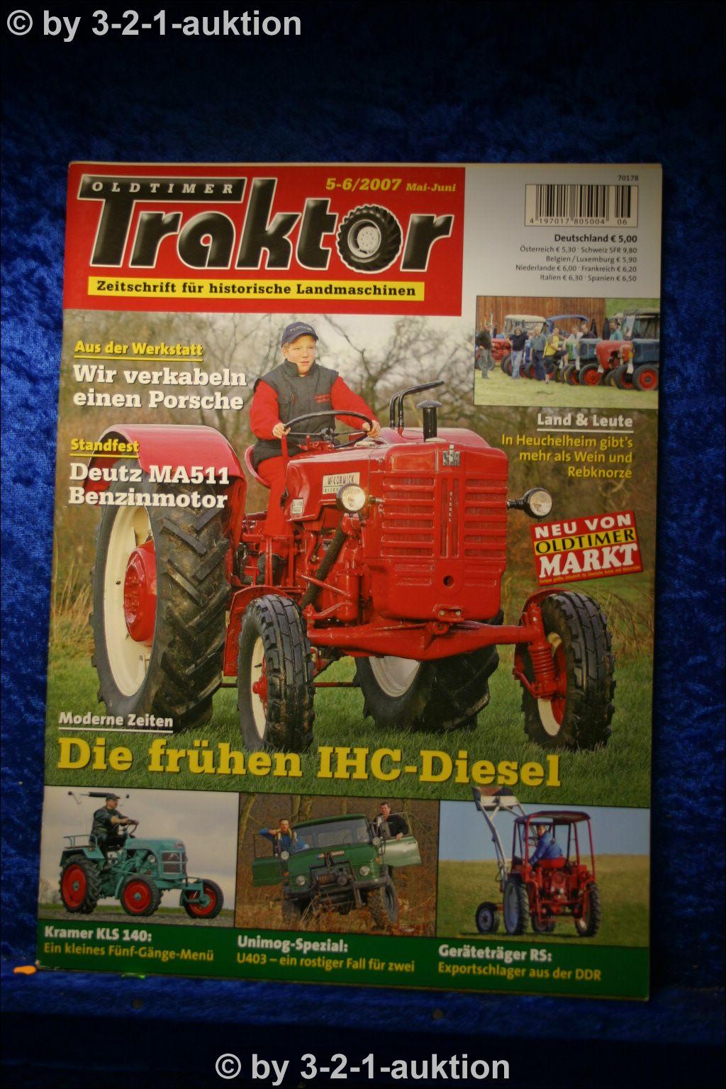 oldtimer traktor 5 6 07 ihc dld 2 d439 ddr ger tetr ger rs. Black Bedroom Furniture Sets. Home Design Ideas