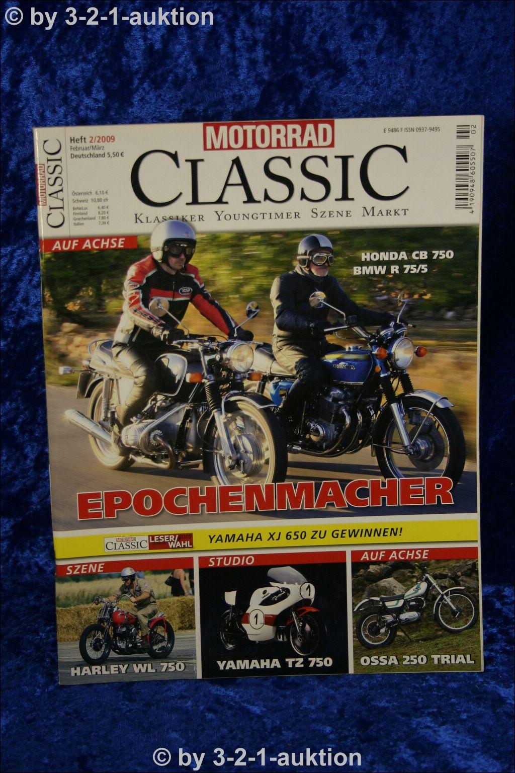 Motorrad Classic 2//09 Honda CB 750 BMW R 75//5 Ossa