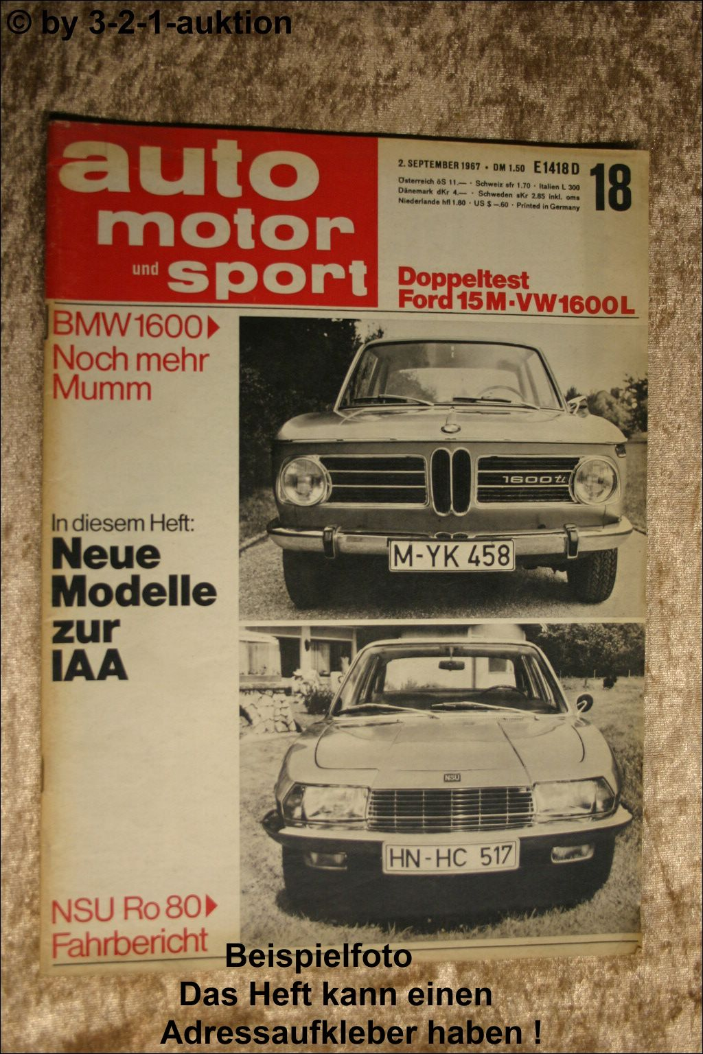 Motor Rundschau 18//67 NSU Ro 80 Audi Avant