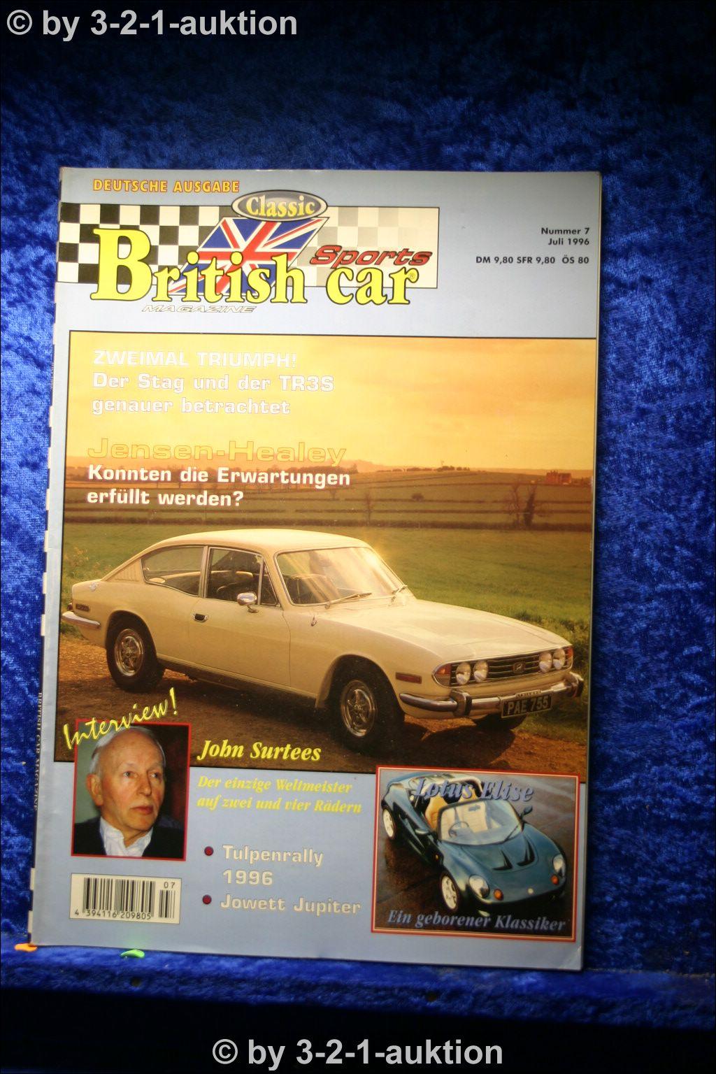 british classic sports car nr 7 1996 deutsch triumph stag. Black Bedroom Furniture Sets. Home Design Ideas