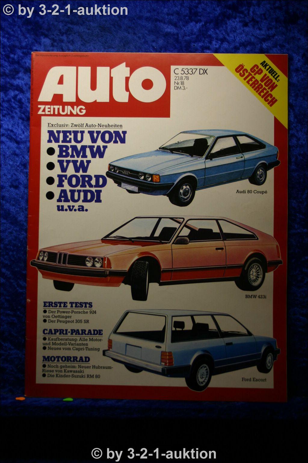 Car Newspaper 18 78 Oettinger Porsche 924 Ford Capri Tuning Peugeot 305 Sr Ebay