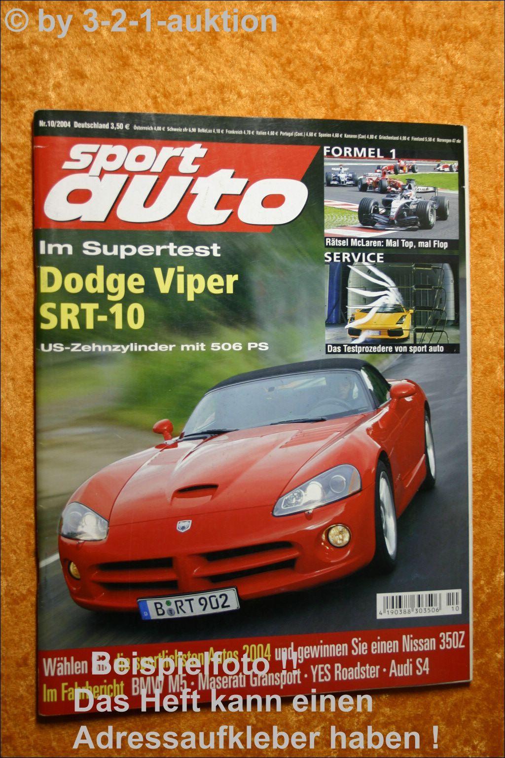 Sport Auto 4//06 Corvette Z06 Viper SRT 10 BMW 330ix