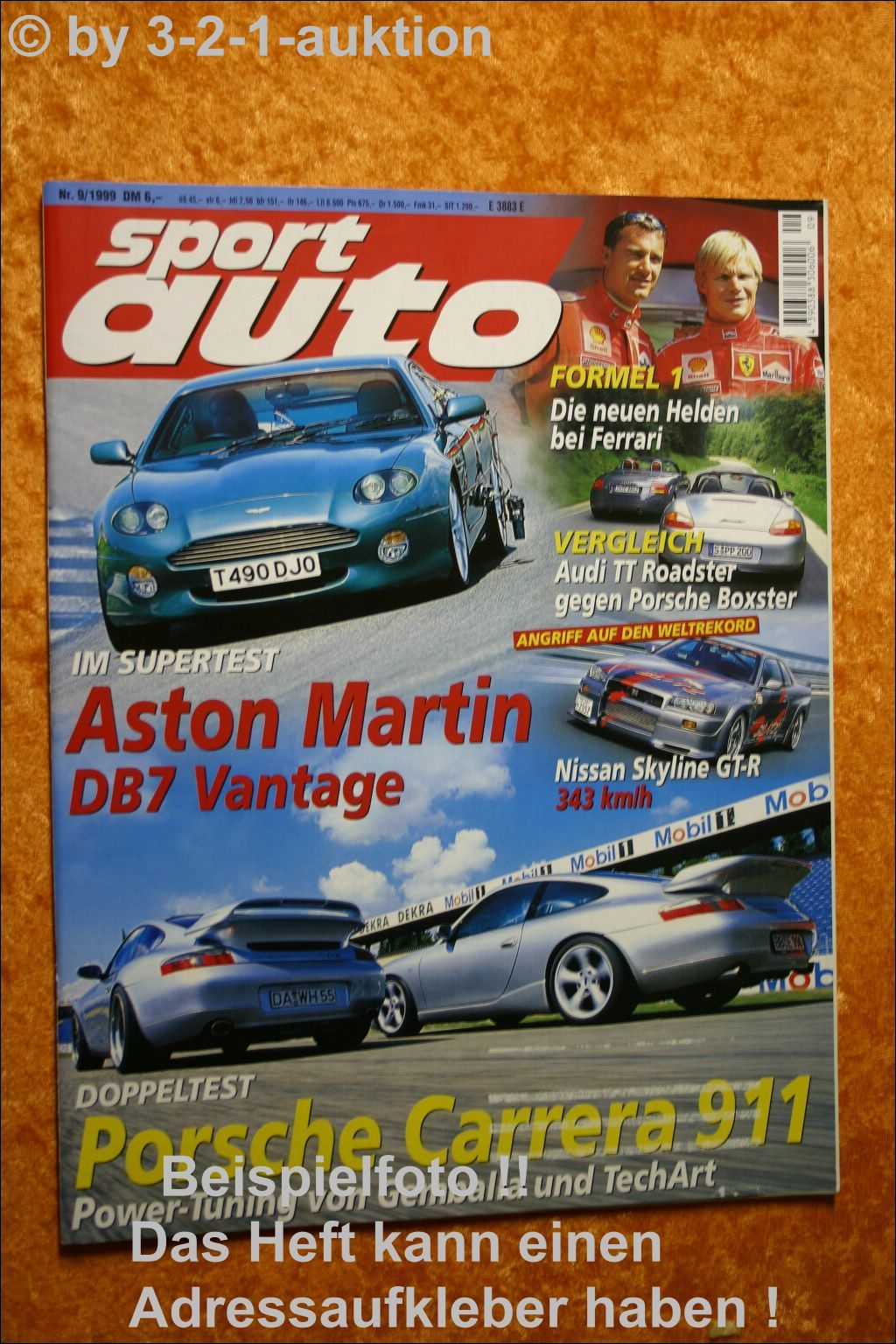 Sport Auto 7//95 911 Turbo F355 Aston Martin DB7 Lotus